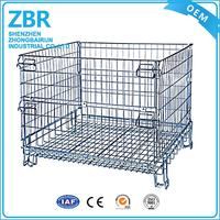 Beautiful grid fence guangzhou wire mesh cages large metal container