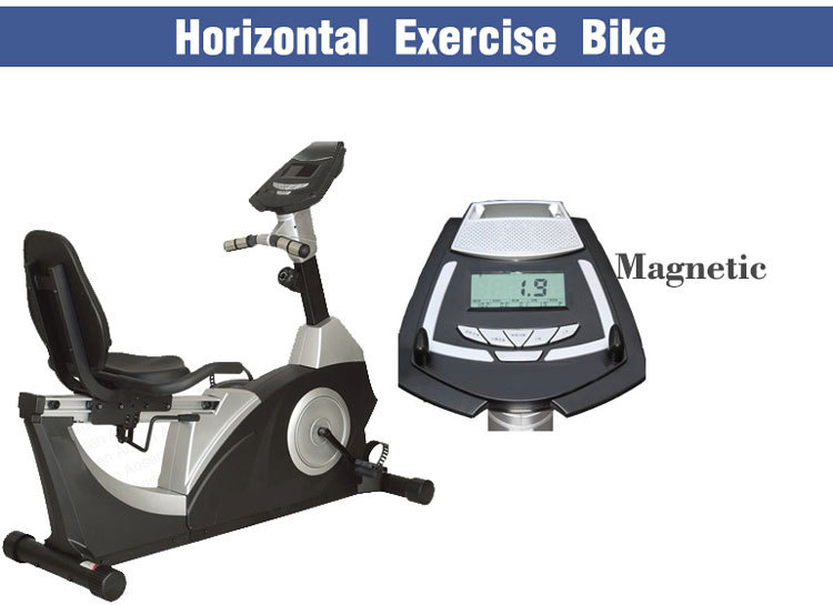 Horizontal Exercise Bicycle Commercial Exercise Recumbent Bike