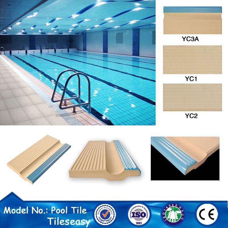 Cer mica piscina baldosas azulejo bullnose afrontamiento - Baldosas para piscinas ...