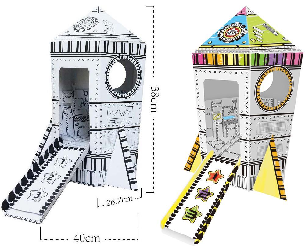 Diy Roket şekli Boyama Oyuncak Karton Oyun Evi çocuklar Için Buy Karton Oyun Evidiy Karton Oyun Eviçocuklar Için Karton Oyun Evi Product On
