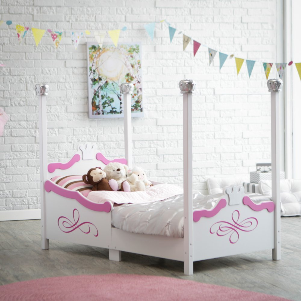 Get Quotations · Kidkraft Princess Toddler Bed   Silver   86945
