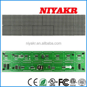 Niykar Factory Price Indoor P4.75 304mmx76mm Red Color F3.75 64x16 Dot Matrix LED Display Module