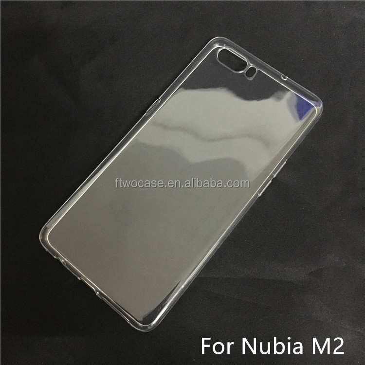 Soft TPU Silicon Transparent Clear case for Nubia M2