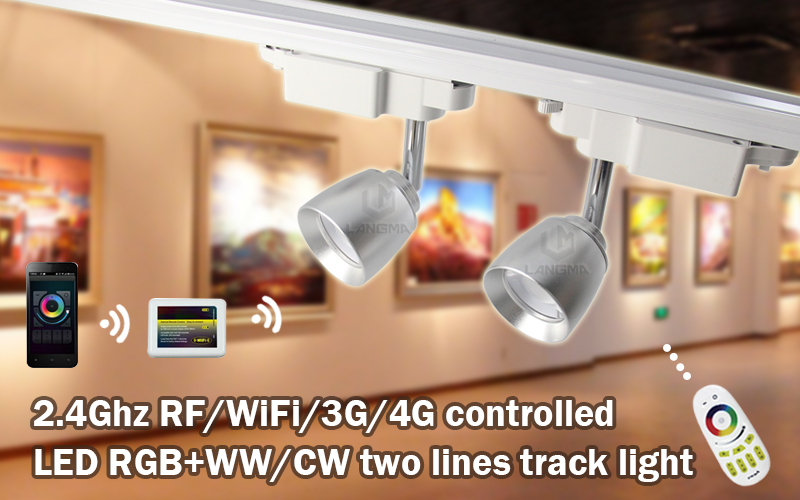 Wifi Remote Led Spot Light 7w Showrooms Background Track Surface ...
