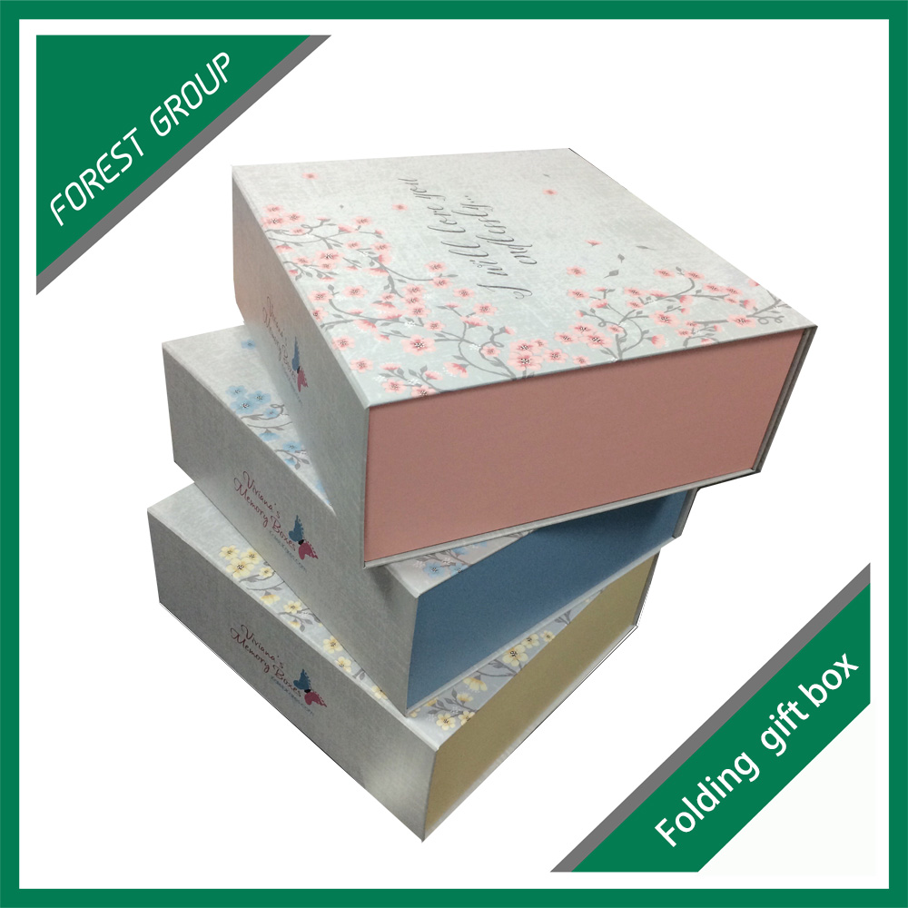 Full color printed square gift boxes for gift deco box for sale