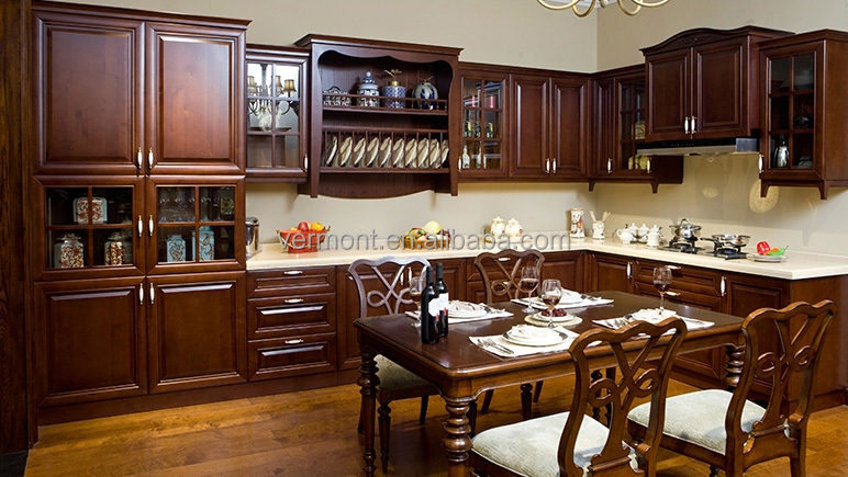 New solid oak wood kitchen cabinet simple design buy solid wood kitchen cabinets kitchen Pakistani kitchen cabinet design pictures
