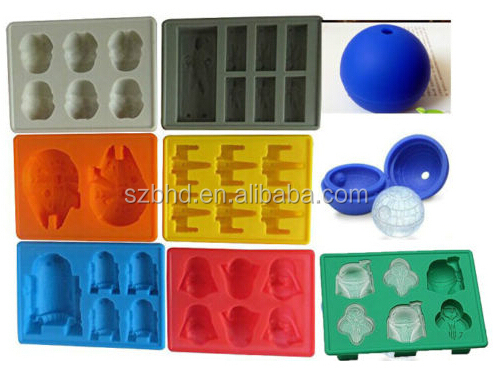 Hot Sale Han Solo/ Darth Vader/ Storm Trooper/Boba Fett/ X-wing Fighter/Millennium Falcon/R2-D2 Silicone Ice Cube Trays
