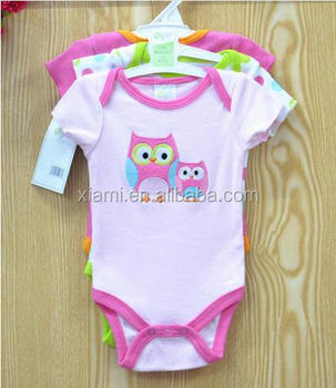 851ccabfe new fashion heathy fabric short seleev night owl pattern gender neutral  baby clothes