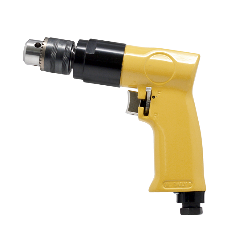 "DS-138 3/8"" Reversible Pneumatic Pistol One hand operation Air Drill With Keyed Chuck"