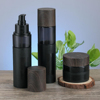 2018 HY newest black frosted glass pump bottle designs