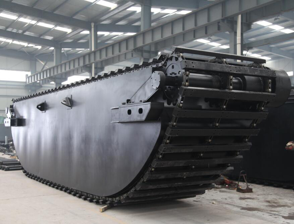 amphibious hydraulic undercarriage made of corrosion resistant AH36, A36 and Q345 optional