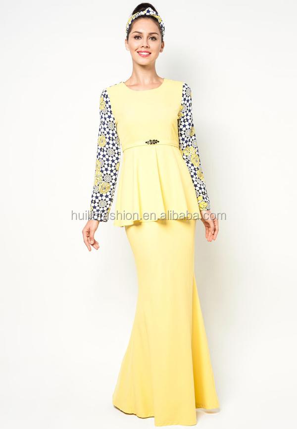 Fashionable latest design modern kebaya dress 2014 design baju ...