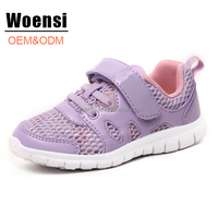 2017 best selling EVA sole girls purple running sports shoes for kids