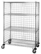 """Quantum Storage Systems EP197 Modular Enclosure Panel for Wire Shelving Units, 73"""" Height x 4"""" Width x 19"""" Depth"""