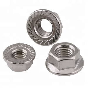 M2 M3 M4 M5 M6 M7 M10 M22 M30 Stainless Steel Hex serrated Flange Nut DIN6923