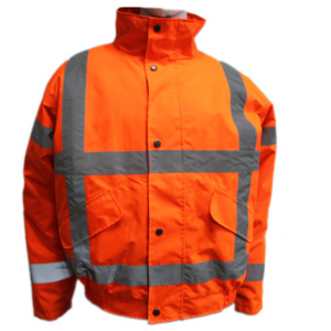 Hi vis reflective safety waterproof insulated workwear wholesale mens safety coats for winter