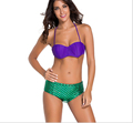 2016 Women Push up Bikini Set Swimwear Beach bathing suit Sling Lacing Two piece Swimsuit Mermaid