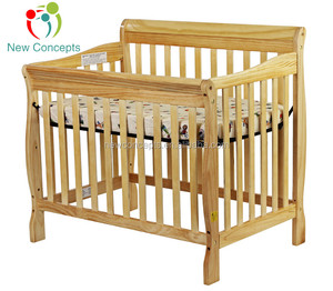 Solid wood adjustable baby cribs