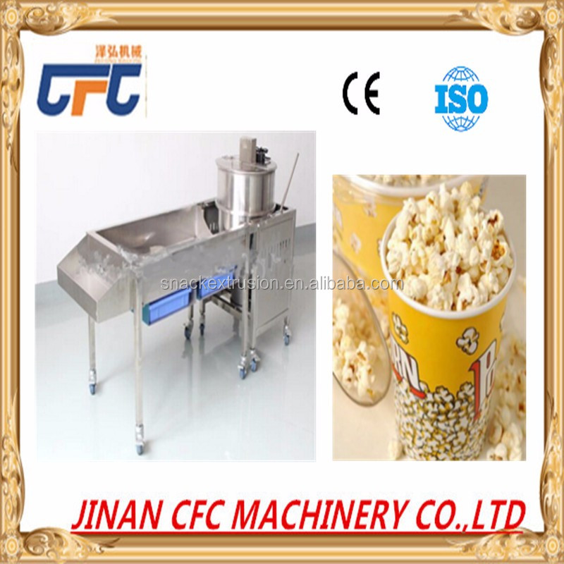 Fully automatic plant using spherical popcorn making machines for snack food
