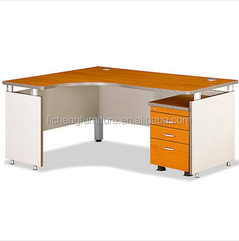 Simple Hot Wooden Office Desk Mfc Computer Table Standard Furniture