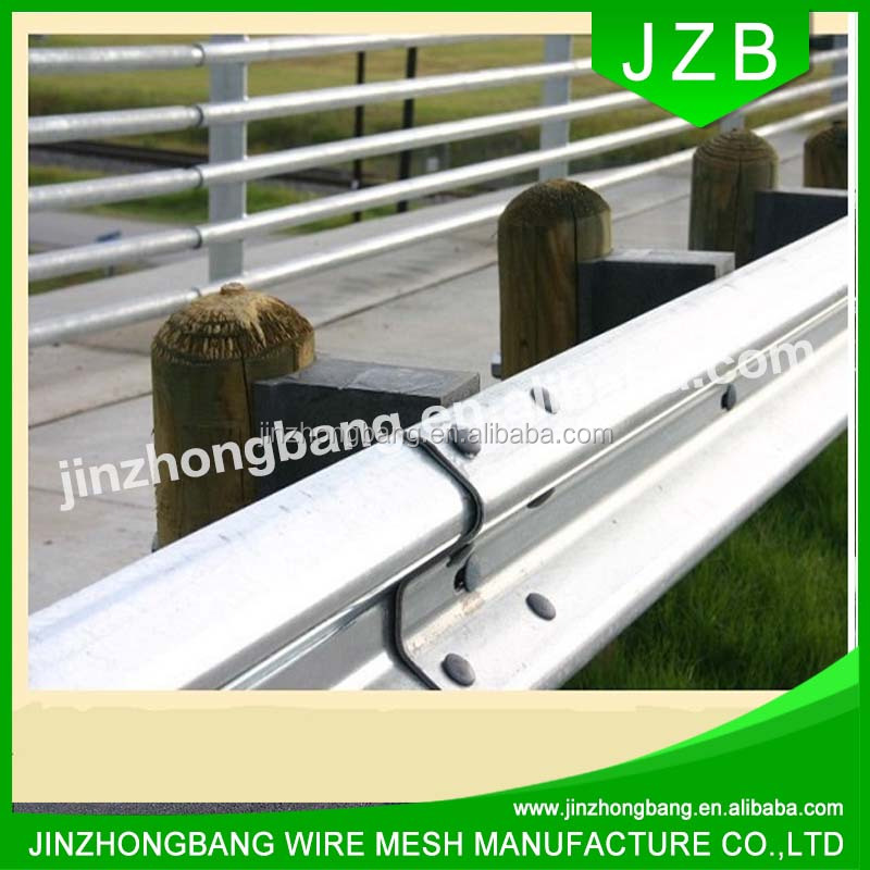 JZB-Safety Metal W Beam Highway Plastic Coated Crash Barrier