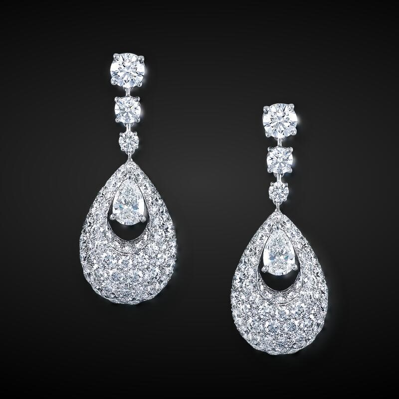 Custom Made Cubic Zircon Stud Pageant Party Lady Gift Earrings
