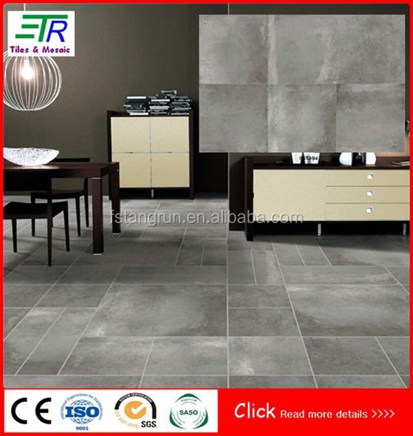 Cement Look Porcelain Tile / 24x24 Floor Tile / Style Selections Tiles