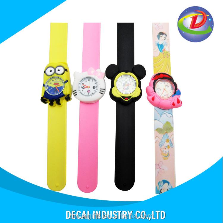 Brilliant Hot Sale Fashion Kids Watch Cartoon Watch Children Student Silicone Waterproof Quartz Wristwatch Slap Cute Gift Children's Watches