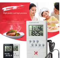 Home kitchen bimetal long probe remote bbq grill thermometer TP800