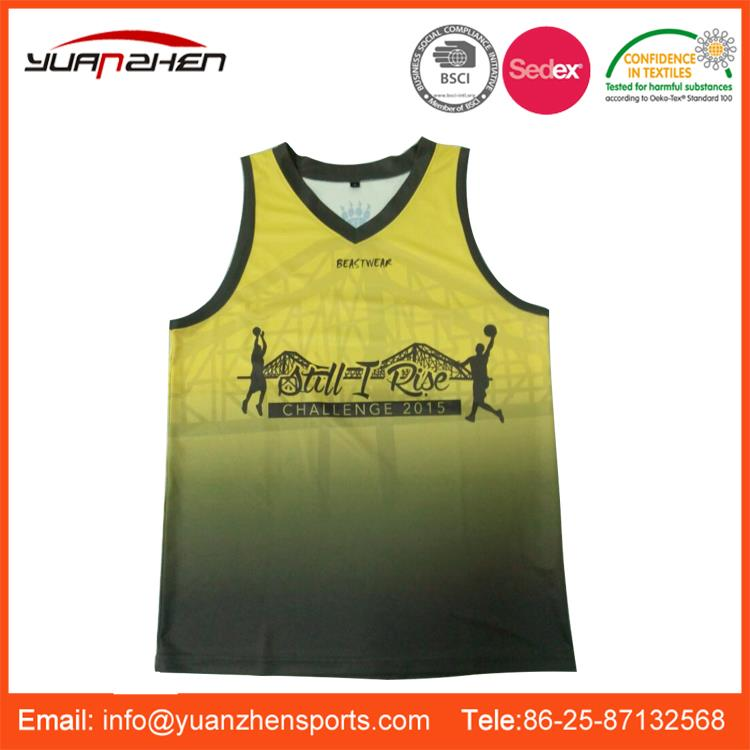 YuanZhen-ISO certificate approved training fitness sports uniform basketball wear