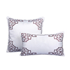 Chinese fashion plain white throw pillows red embroidery valentines pillows