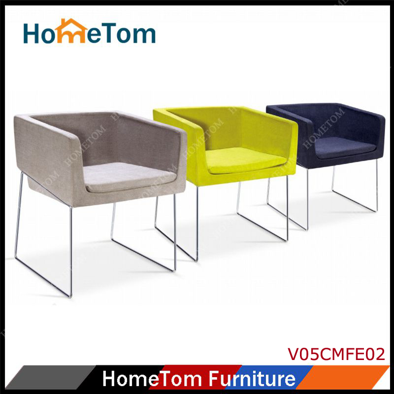 V05CMFE02 European Simple Chair Sofa Small Lazy Sofa