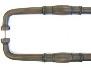 """Normandy Back to Back Door 12"""" Center Appliance Pull Finish: Patina Rouge"""
