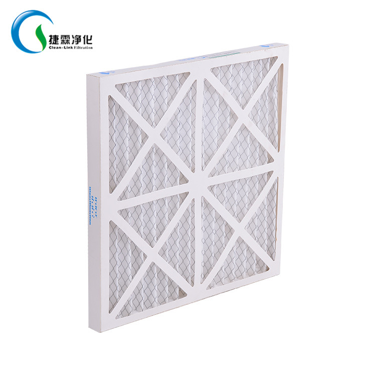 Paper frame 20 x 25 x 4 merv 8 pleated ac furnace air filter