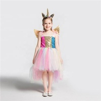 Christmas party wear kids gift cute cartoon unicorn design children girl costumes