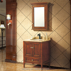 Modern farmhouse bathroom vanity , Home wall mirored cabinets for small bathroom WTS848