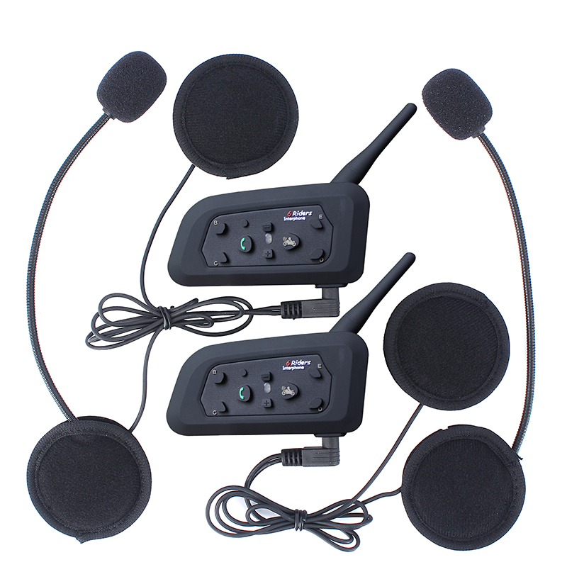 Free Shipping! Bluetooth Interphone Stereo Headphone Bluetooth Motorcycle Helmet Intercom Multi headset