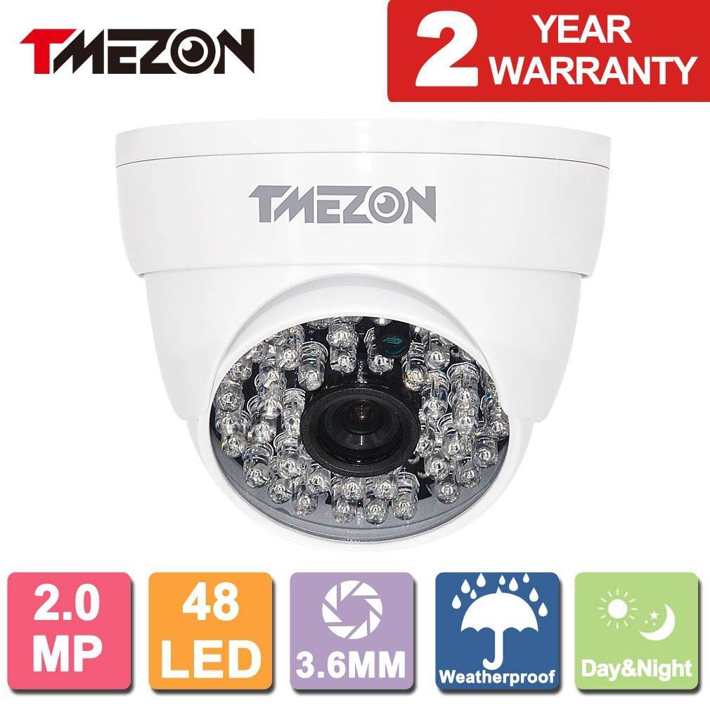 TMEZON AHD Camera 1080P AHD/CVI/TVI/960H 1500Tvl Security Camera 2.0MP Night Vision Outdoor 48 IR LEDs Day Night Vision with OSD Menu