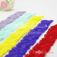 New listing kids hair accessories soft lace elastic headband material