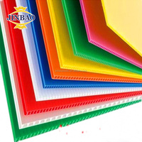 JINBAO colorful 3mm 5mm pp corrugated cupboard plastic sheets