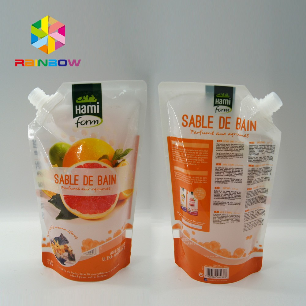 Reusable Food Pouch Baby Packaging Squeeze Pouch Plastic