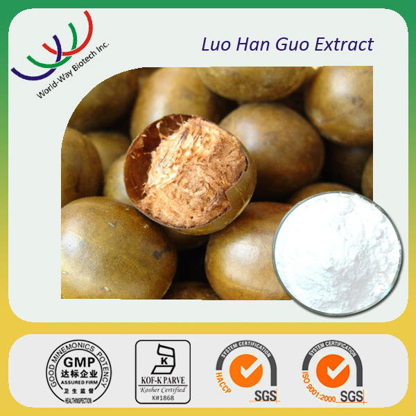 China Factory Supply Hight Quality 100% Pure Natural Fructus momordicae P.E/ Luo han guo Extract with 25%,45%Mogroside V