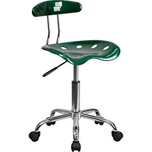 Parkside Vibrant Green and Chrome Task Chair with Tractor Seat