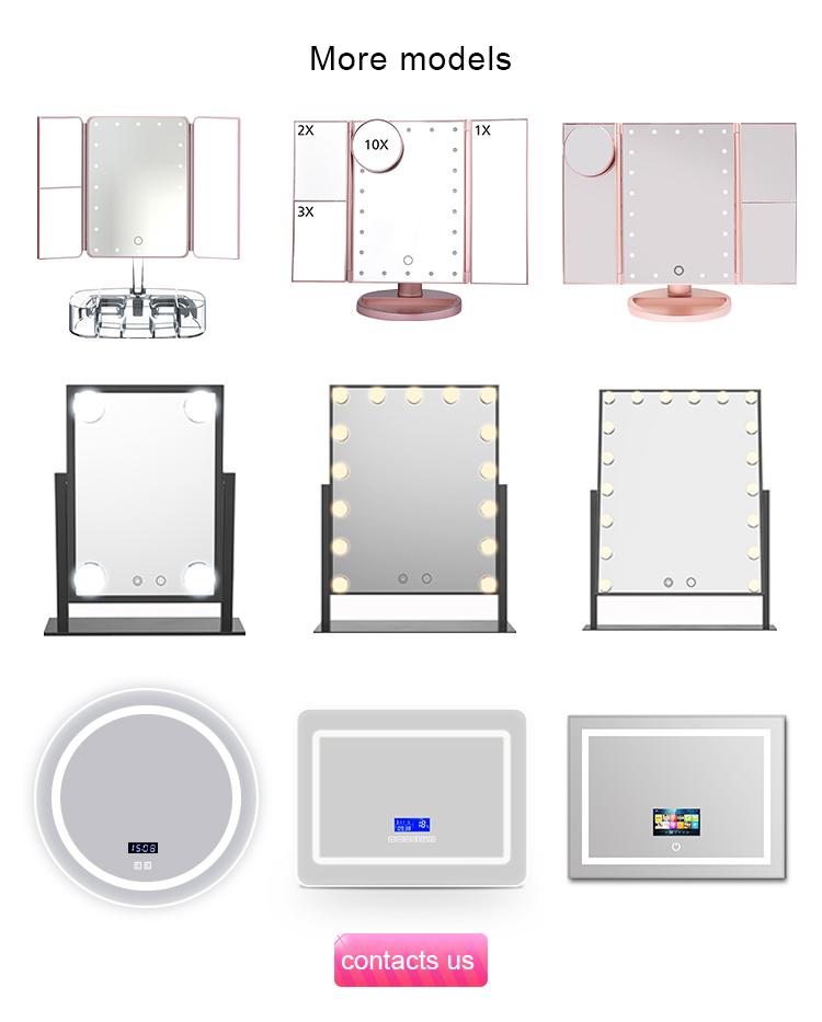 Guangdong Hotel Cosméticos Acender Vaidade Personalizado Levou Luz Espelho de Maquilhagem