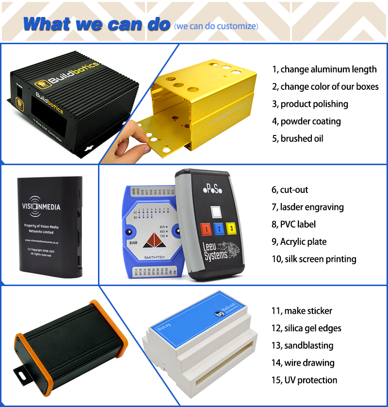 China supplier custom made din rail enclosure plastic box for industrial