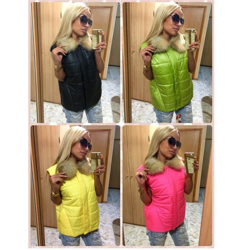 Популярные новое поступление женские зимние пальто мода свободного покроя без рукавов мех молния твердый зимний тонкий теплый и пиджаки большие размеры горячая