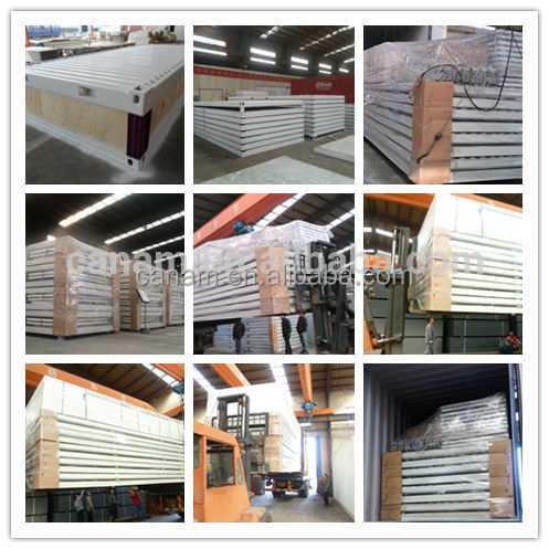 CANAM-Easy install foam cement sandwich panel prefab house for sale