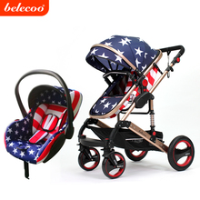 2017 Cynebaby/Belecoo Luxurious 2 in 1 Baby Stroller Child Pram with EN1888