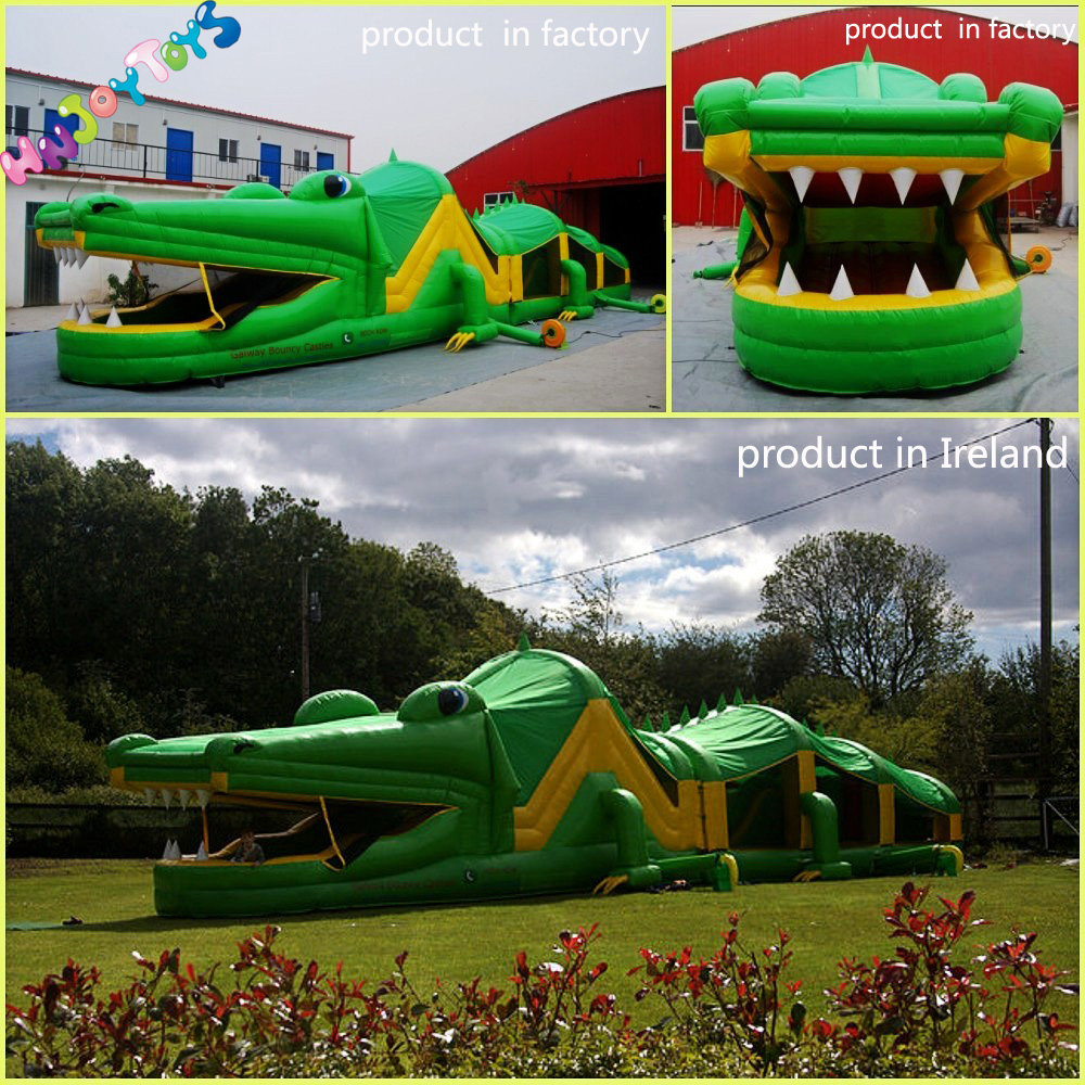 crocodile inflatable obstacle course crocodile inflatable