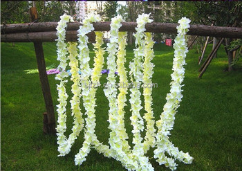 White color flower for wedding decorationartificial wisteria white color flower for wedding decorationartificial wisteria flowers for wedding stage decoration mightylinksfo
